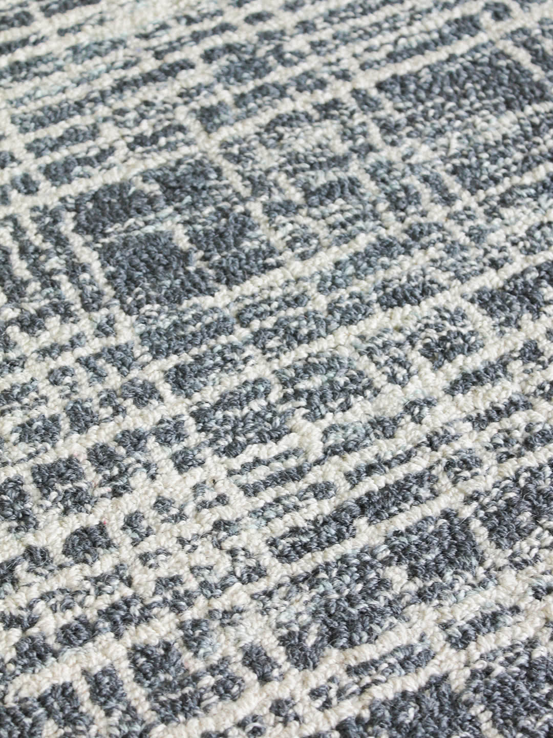 Aegean Blue detail wool blend rugs Perth
