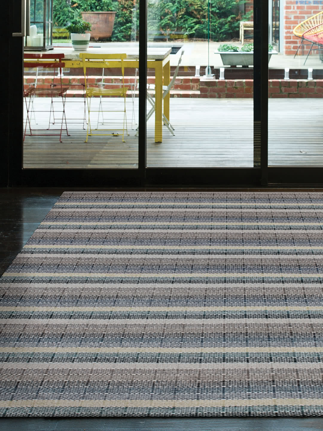 Braid Link-Teal Sand pure wool rugs Perth