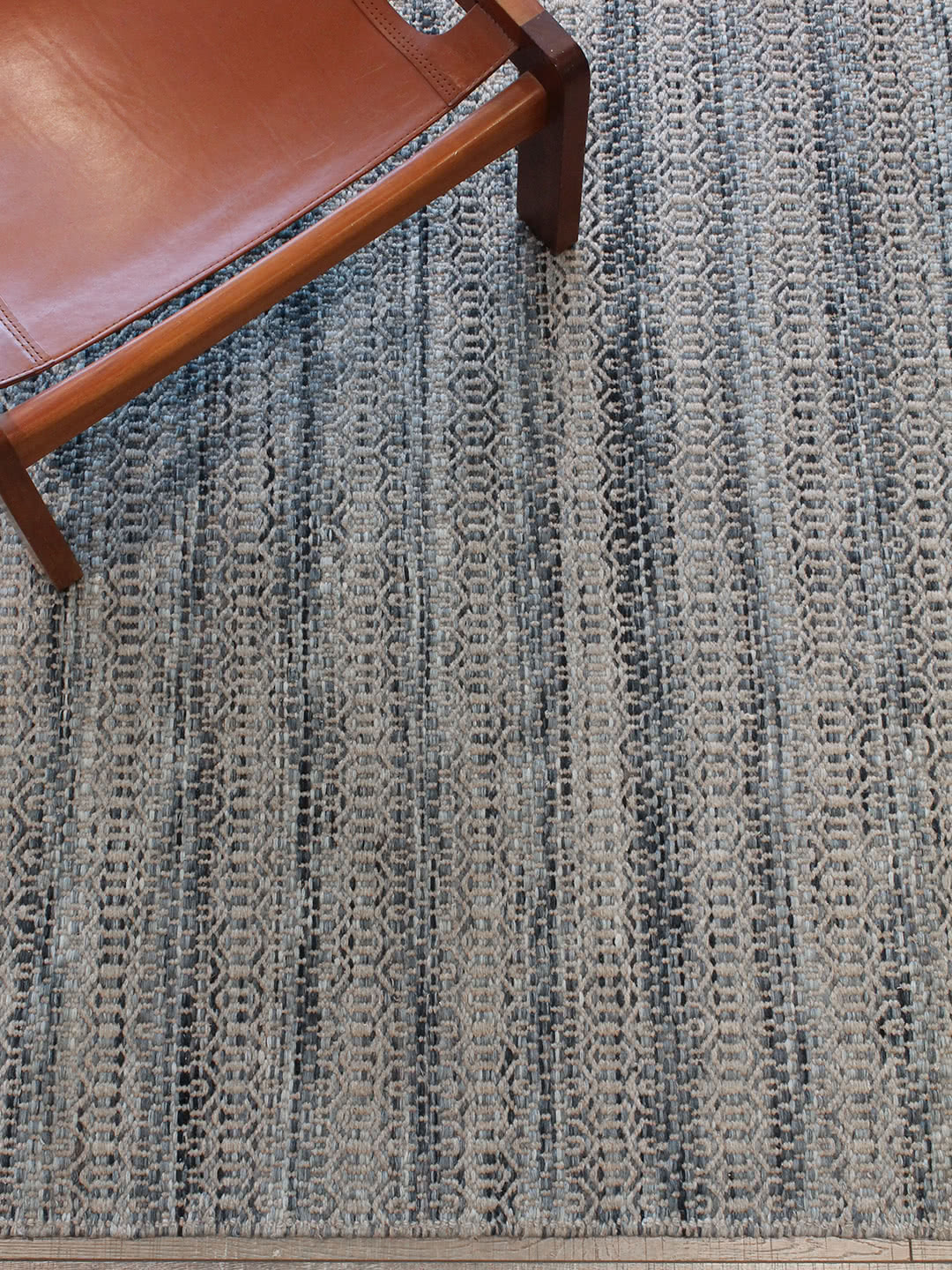 Braid Tempest-Denim pure wool rugs Perth