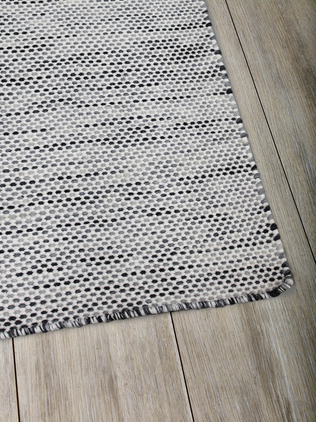 Charcoal Ivory pure wool rugs Perth