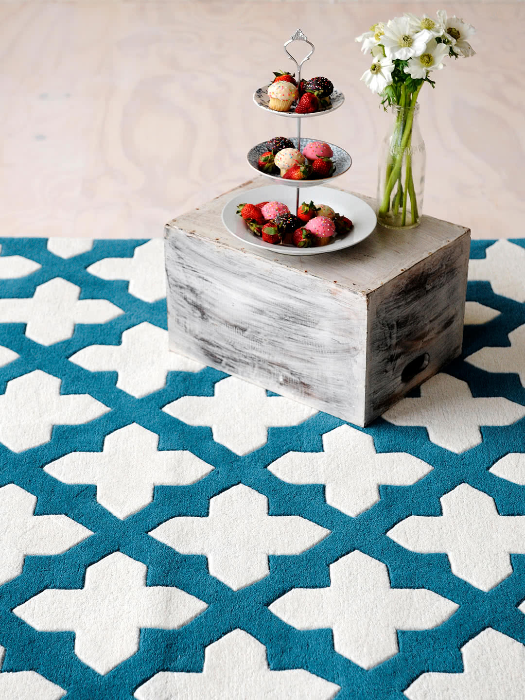 Empire-Aqua wool rugs Perth