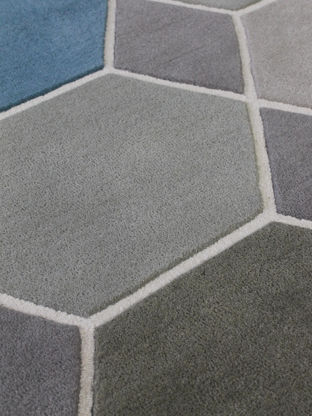 Hex detail wool rugs Perth