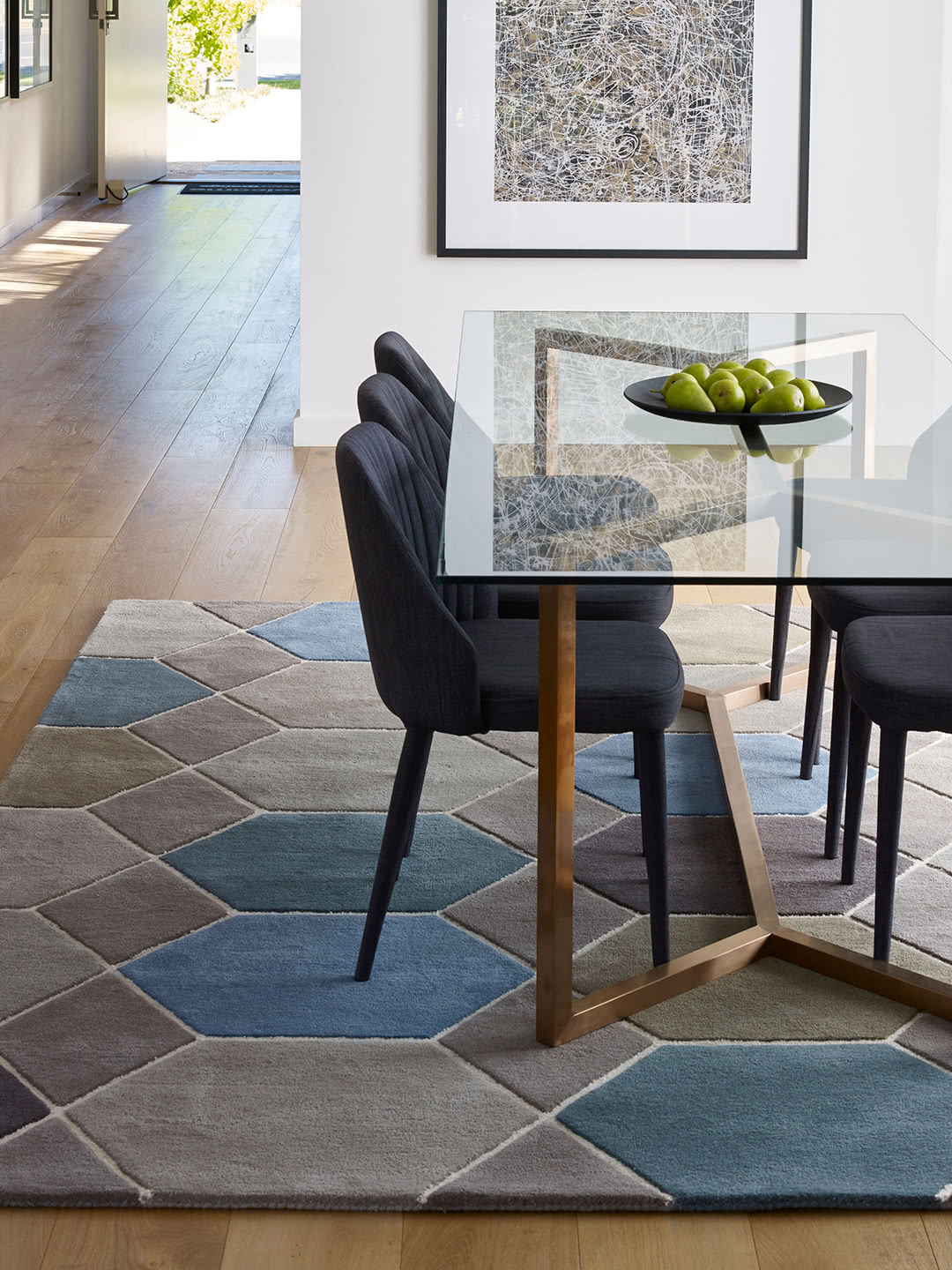 Hex wool rugs Perth