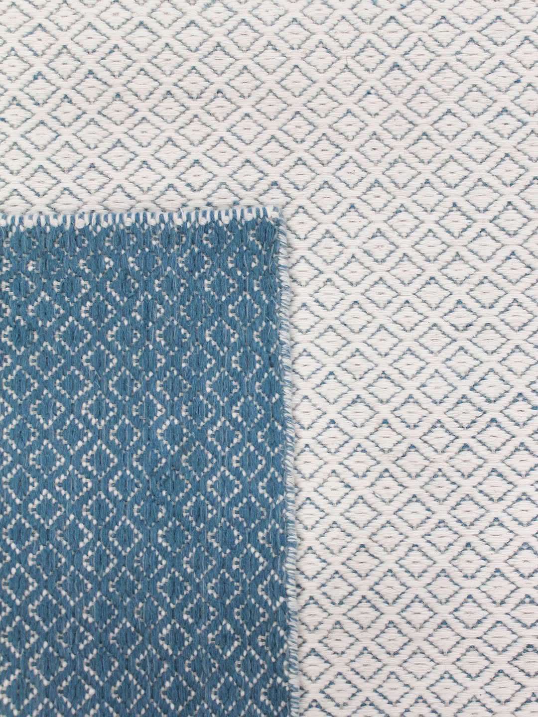 Ivory Blue reverse pure wool rugs Perth