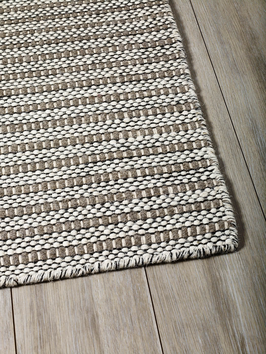 Ivory Taupe pure wool rugs Perth