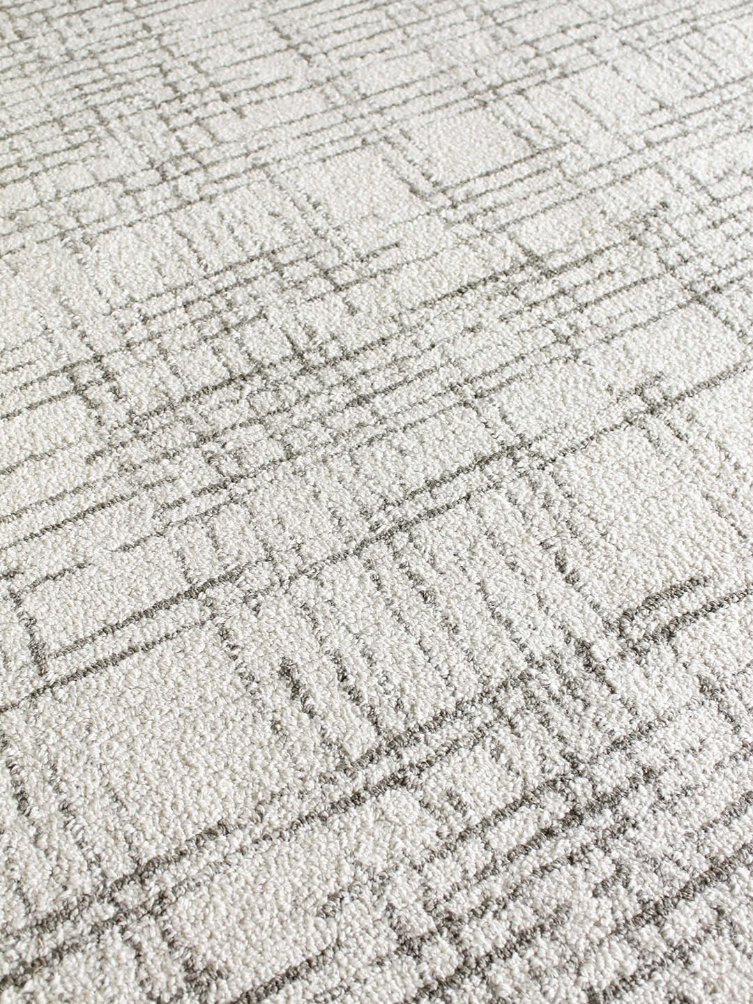 Stone Neutral detail wool blend rugs Perth