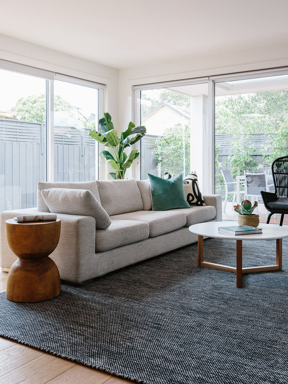 Subi-Black Grey pure wool rugs Perth