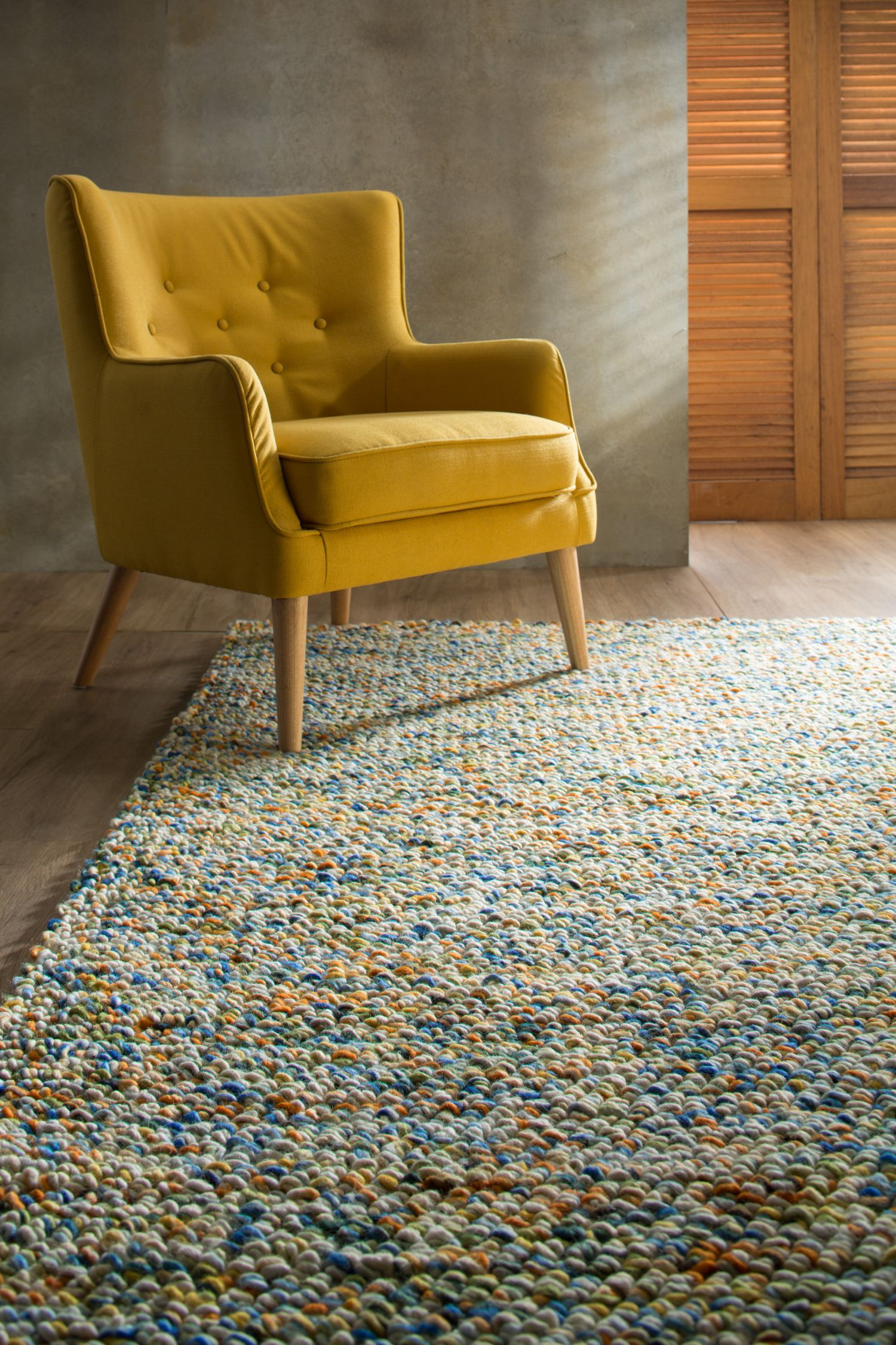 Volume textured rugs