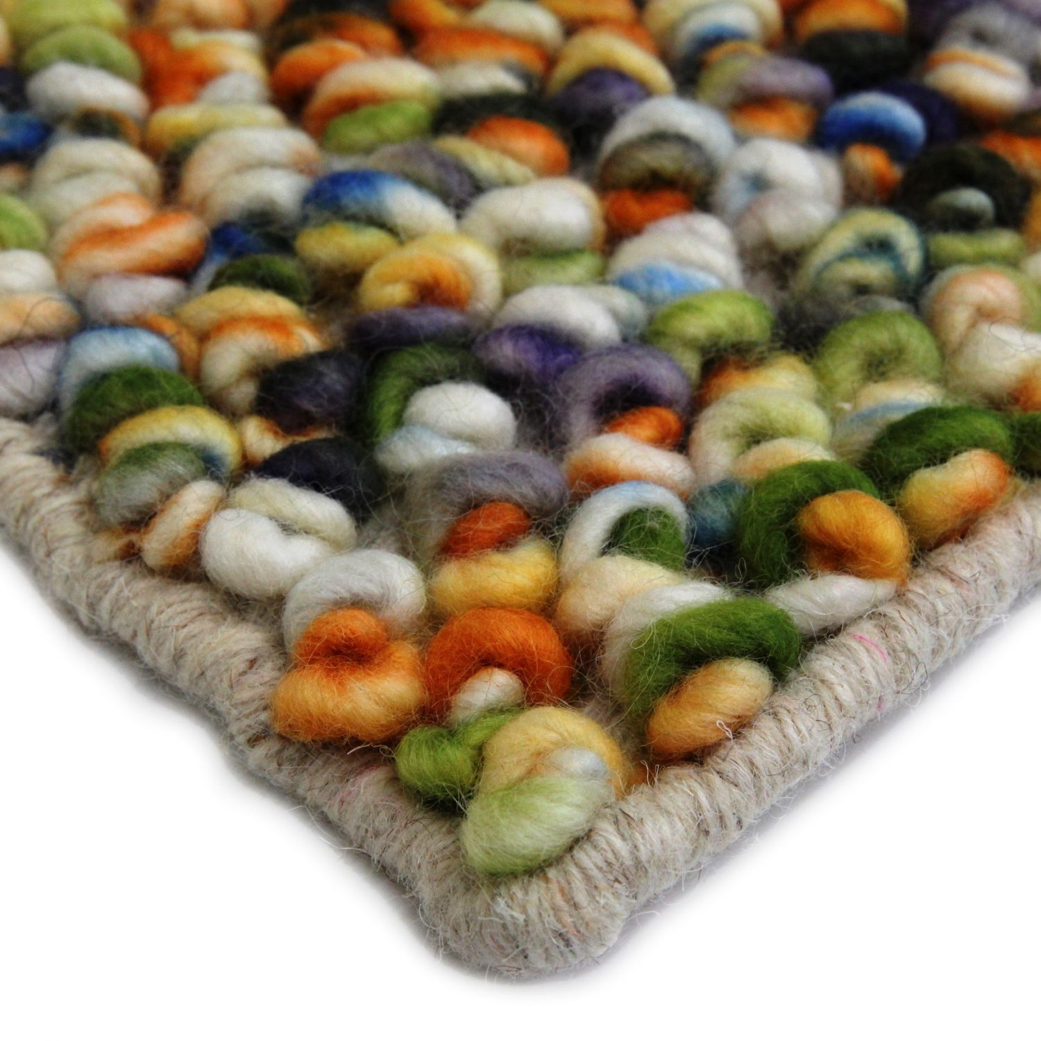 volume-sweet-orange textured rugs