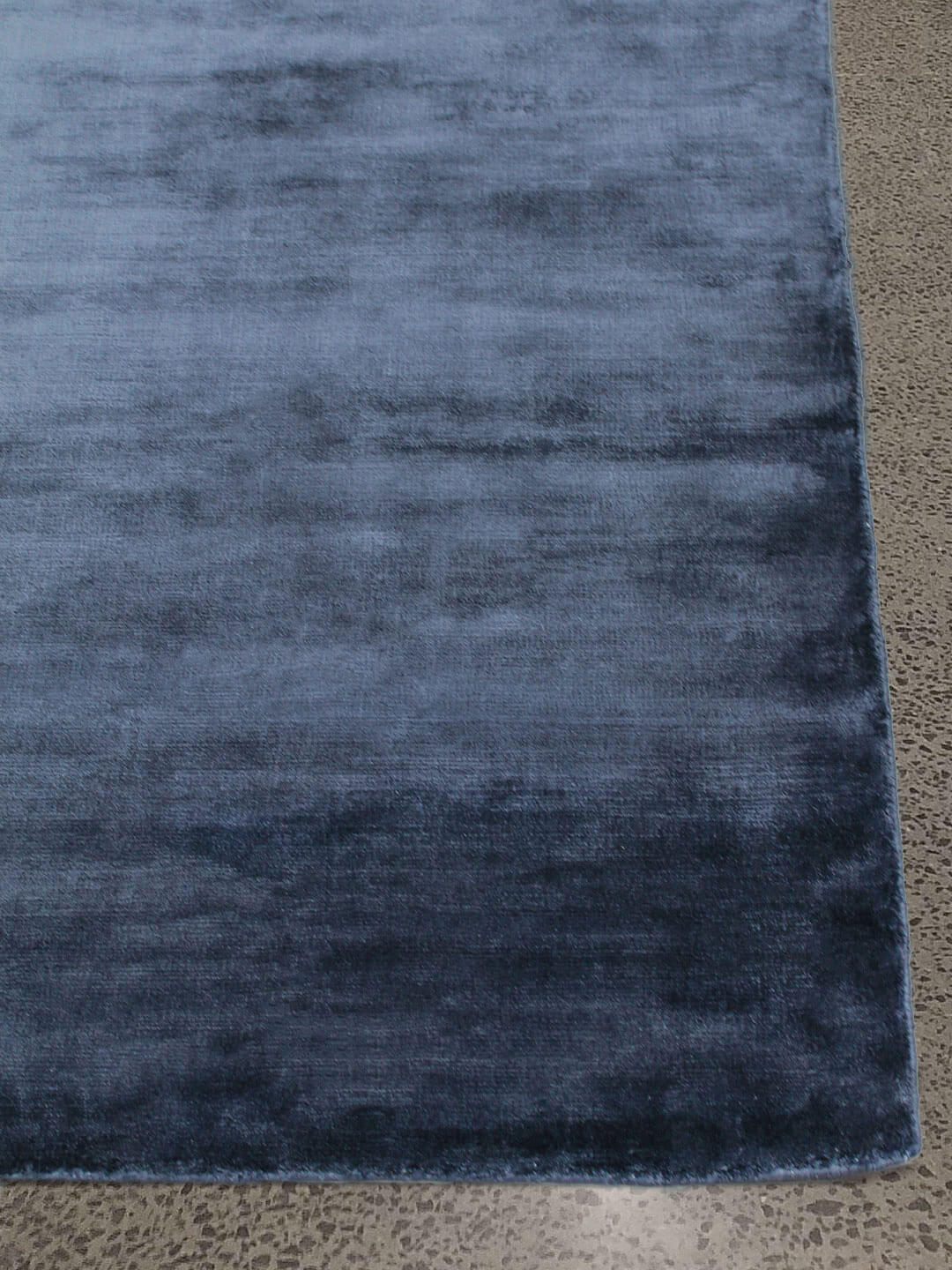 nvy-blue-art silk-hand woven-Stans-rugs-glitz-perth